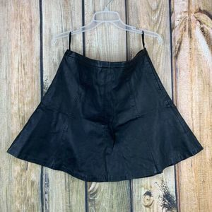 The Limited Black Pleather Aline Skirt Size 8